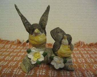 Vintage ceramic brown bird figurine used