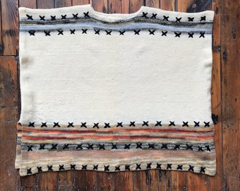 1970's Wool Blend Knit Poncho by Jump