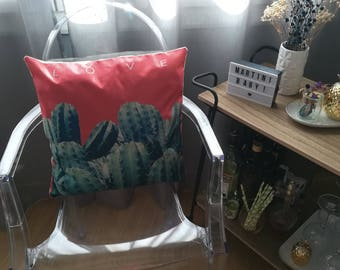 Design Cactus pink pillow lifestyle cushion retro Indoor