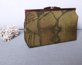 Kimono Silk Purse / Clutch Hand Made From Vintage Japanese Kimono Silk