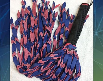 Pink & Cobalt Braided flogger