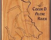 COEUR D ALENE RIVER Map F...