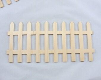 Wooden fence part DIY unfinished set of 5