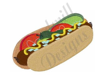 Hot Dog - Machine Embroidery Design