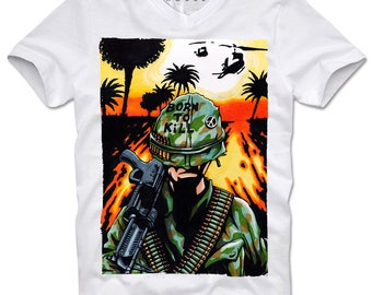 DOPEHOUSE T-Shirt Tee Full Metal Jacket Platoon Apocalypse Now Vietnam War Soldier Stanley Kubrik Drill Seargent Kult Cult Movie