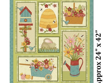 Garden Days, by Cheryl Haynes for Benartex  Panel