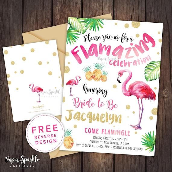 Flamingo bridal shower invitation flamingo party pool party filmwisefo