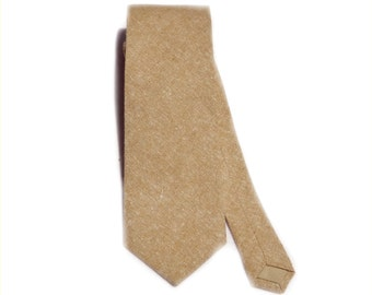 Linen necktie. Leathered linen tie standard, slim, or skinny linen tie