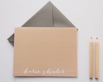 Personal Custom Stationery Flat Note Card Set