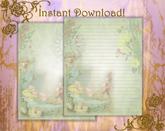 Sleeping Beauty, Fairy Tale Stationery, Brothers Grimm, Fairy Tale, Writing Paper, Fairy Tale Writing Paper, Letter Writing