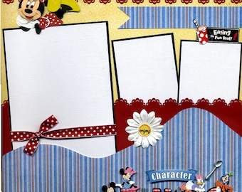 Character Dining  - Premade Scrapbook Page