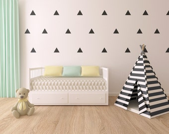 Triangle Wall Decals - Triangle Decals - Nursery Wall Decal - Vinyl Stickers - Kids Room - Triangle Wall Stickers - Peel & Stick