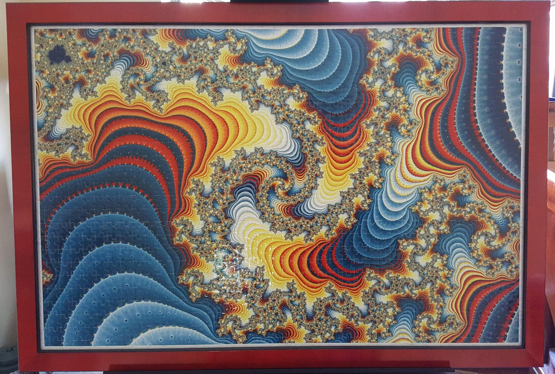 Color primario diseño 1000pc Puzzle pared arte Fractal