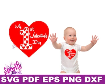 First Valentines day svg, First Valentine svg, Baby Valentine svg files, Baby Valentine svg, Valentines day svg boy, Valentines day svg girl