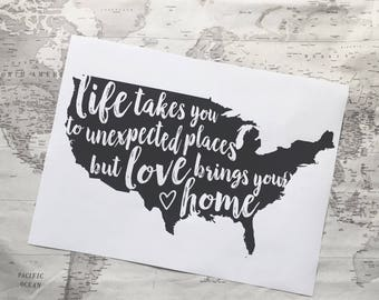 Love Brings You Home print