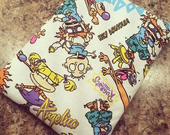 Rugrats BookCozy, Book cozy, Book sleeve, Padded Book sleeve, Paperback cover, Book lovers gift