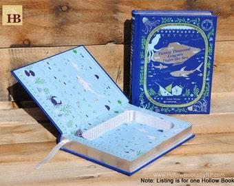 Book Safe - Twenty Thousand Leagues Under the Sea - Leather Bound Hollow Book Safe