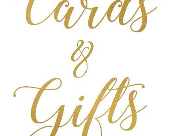 Cards and Gifts Foiled Sign
