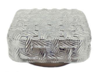 Flushmount lighting clear crystal glass