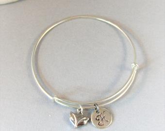 LIttle Fox,Fox Bracelet,Fox Jewelry,Fox Bangle,Animal Bracelet,Woodland Bracelet,Little fox Bangle,Red Fox Jewelry,Personalize