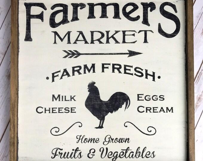 Farmers Market Sign | Farmhouse Kitchen, Farmhouse Decor, Hand Painted