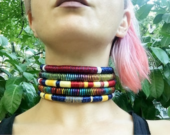 Choker, Ethnic Necklace, Tribal Necklace, Afro Necklace, Statement Necklace, Choker, African Necklace, Choker Necklace African Jewelry, Gift