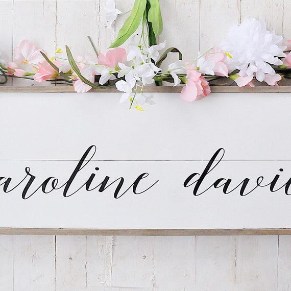 Custom Name Sign | Nursery Sign | Two Names | Shiplap | Home Decor | Bedroom Sign | Script | Framed