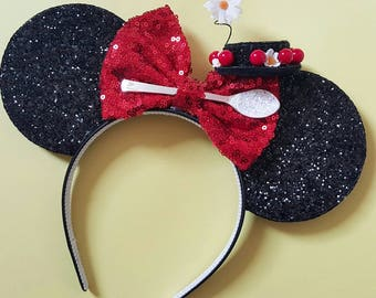 Mary Poppins Mouse Ears || Mouse Ears || Spoonful of Sugar Mouse Ears|| Mouse Ears Headband | Mary Poppins