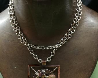 Copper and bronze necklace, unique