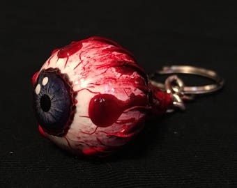 Custom eyeball keychain (purple)
