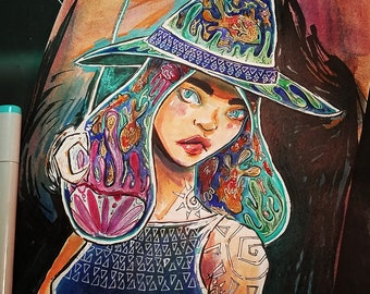 Water Witch Original Art