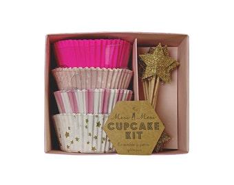Meri Meri Toot Sweet Pink Cupcake Kit - Gift Packaging Paper Party Supplies