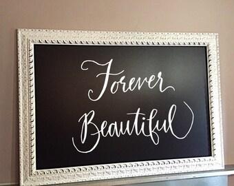 office chalkboard. Framed Chalkboard, Chic Office Decor Chalkboard