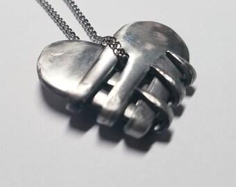 Small Fork Heart Pendant