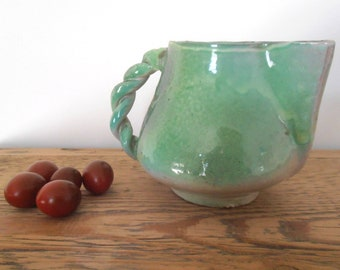 Green water pitcher