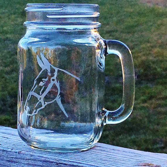 Mule, Longear, Etched Drinking Glass, Mule Lover's Gift, Birthday Gift, Christmas Gift, Western Decor