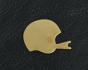 Brass stamped football helmet, for stamping or other projects sold 2 each 04721AG