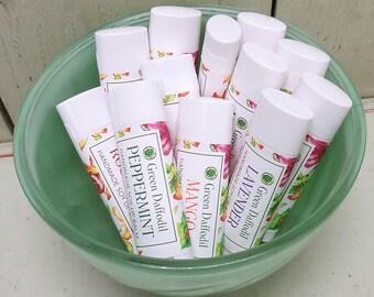 Mix and Match 3 Soy Lip Balm Tubes- Vegan - Green Daffodil