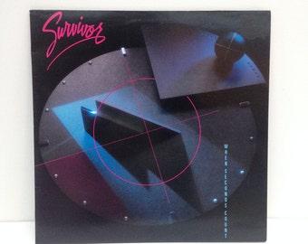 Survivor - When Seconds Count 1986 vintage Vinyl Record LP 80s new wave pop rock