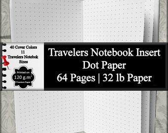 Travelers Notebook Insert Dot Paper Bullet Journal To Do List Planner Insert Blank Journal Notebook Bullet List Daily Planner Weekly Planner