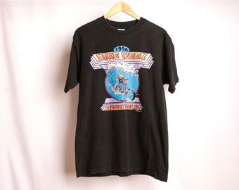 Vintage disjoncteur BIKER 1996 Daytona Beach printemps FLORIDA noir harley davidson style t-shirt haut