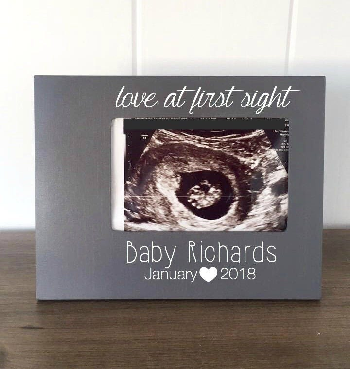 Pregnancy Announcement Picture Frame, Baby Announcement to ...