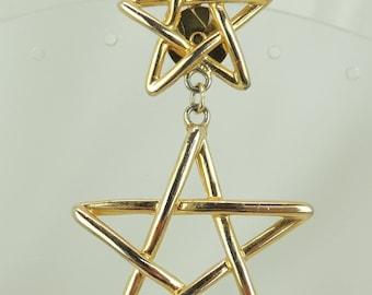 Semi-Vintage Double Star Pin