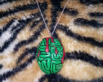Zombie Brain Necklace