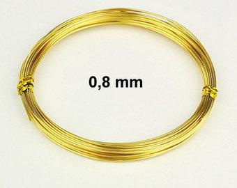 Transparent 0.8 mm x 10 m - yellow / gold / gilt - cheap