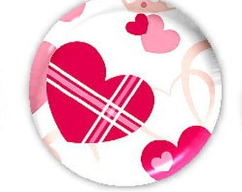 20mm cabochon heart (Pink)