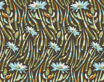 Tula Pink OOP Acacia Fabric - Quills in Stone - PWTP038.STONE