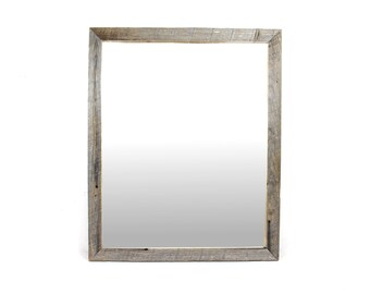 Reclaimed Wood Pine Wall Mirror, Bathroom Mirror, Vanity Mirror, Entryway Mirror, Barnwood Mirror