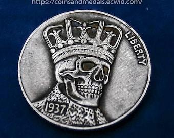Hobo Nickel 1937-D 3-legged Buffalo NICKEL COIN  Type 2