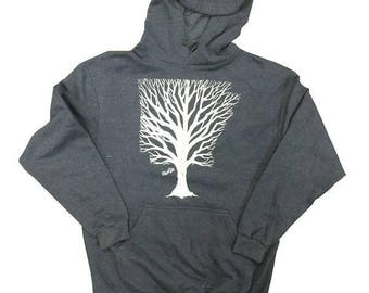 Arkansas Branches Heather Denim Hoodie